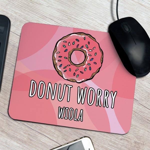 prezent dla dziewczyny podkładka pod myszkę z nadrukiem donut worry