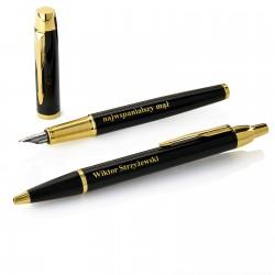 zestaw parker pióro i długopis z grawerem na prezent dla mężczzny