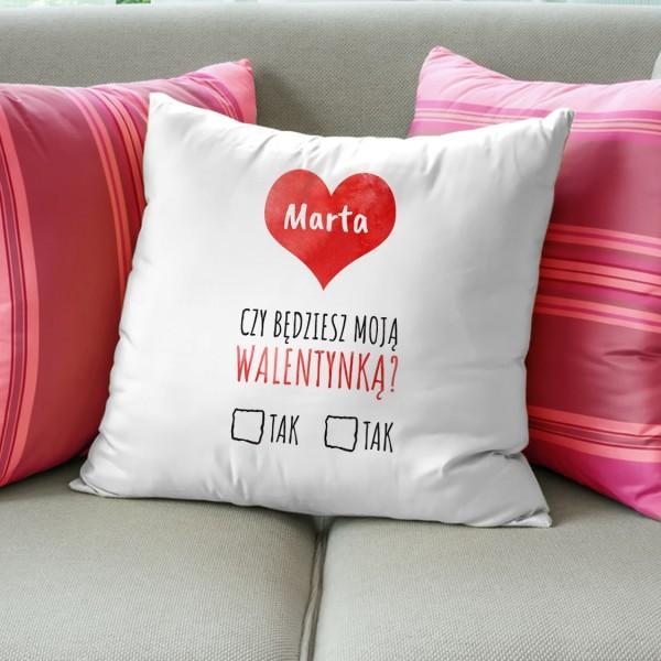 poduszka na walentynki na prezent dla dziewczyny