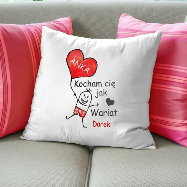 poduszka na prezent dla dziewczyny szalona miłość
