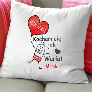 poduszka na walentynki dla dziewczyny szalona miłość