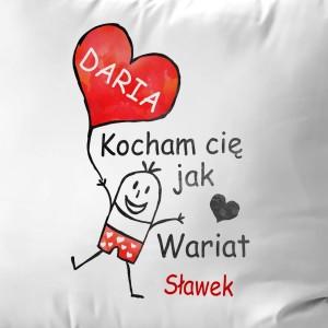 poduszka dla zakochanych szalona miłość