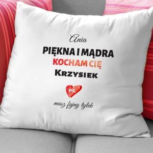 poduszka dla dziewczyny z imieniem piękna i mądra