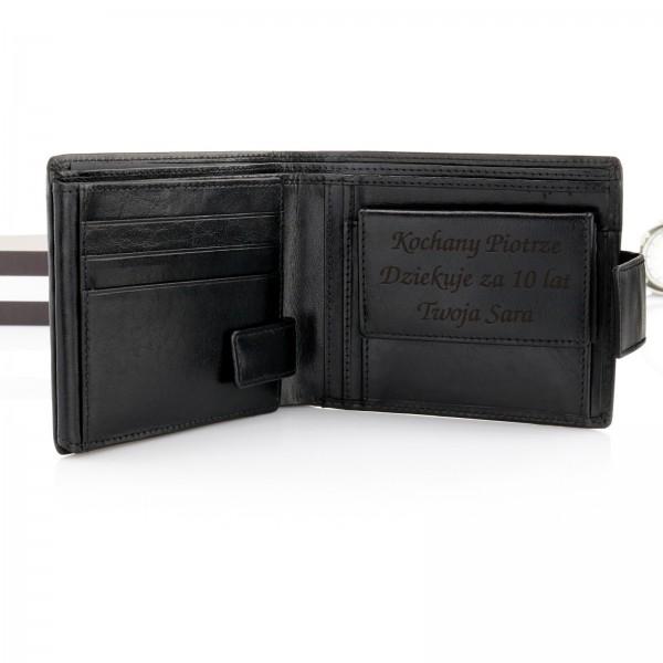 portfel męski skórzany z dedykacją