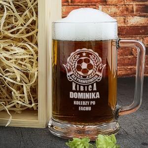 kufel do piwa z grawerem prawdziwy kibic