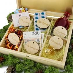 pudełko z przegródkami na upominki na rocznicę ślubu