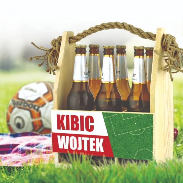 nosidełko na piwo z nadrukiem na prezent dla kibica