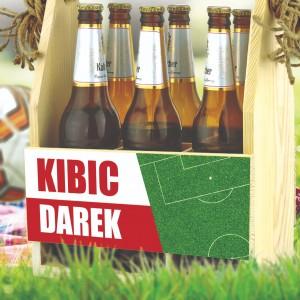 skrzynka na piwo z imieniem kibica