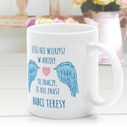 prezent dla babci kubek z nadrukiem babcia anioł