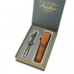 pióro parker i etui w eleganckim pudełku prezentowym