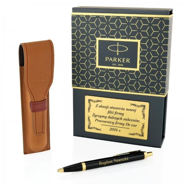 zestaw parker długopis z grawerem w etui dla szefa