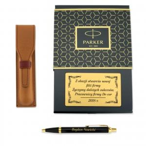 stylowy zestaw prezentowy dla szefa długopis i etui w pudełku