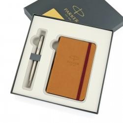 długopis parker z notesem silver matt na prezent