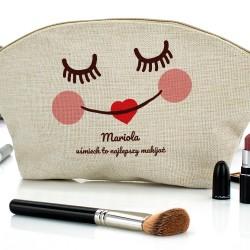 prezent na mikołajki kosmetyczka z własnym nadrukiem najlepszy makijaż