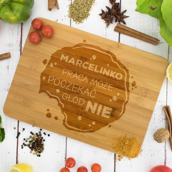 deska kuchenna z grawerem dedykacji głód na prezent dla niej