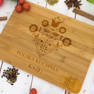 deska do krojenia z grawerem polska kuchnia na prezent na gwiazdkę