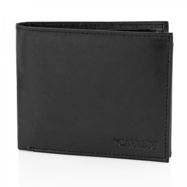 portfel skórzany cavaldi black na prezent dla niego