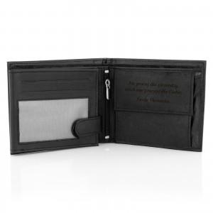 portfel skórzany męski z dedykacją cavaldi black