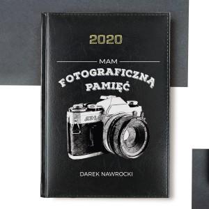 kalendarz z personalizacją fotograficzna pamięć na prezent dla fotografa