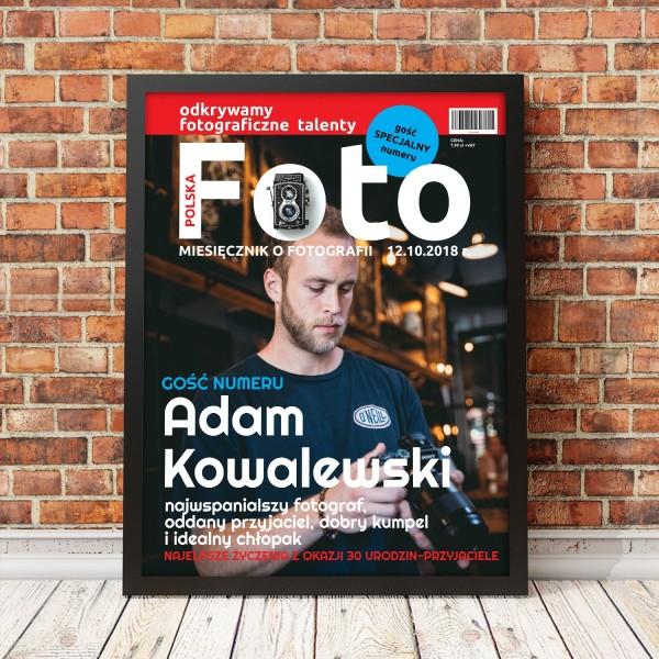 miesięcznik foto ze zdjęciem w ramce na prezent dla fotografa
