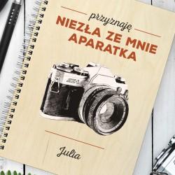 prezent dla fotografki notatnik z nadrukiem aparatka