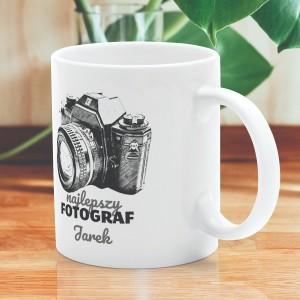 kubek z imieniem i dedykacją najlepszy fotograf