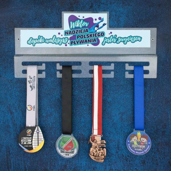medalówka z imieniem na prezent dla pływaka