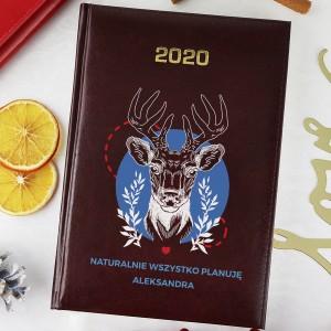 prezent pod choinkę dla niej spersonalizowany kalendarz jeleń