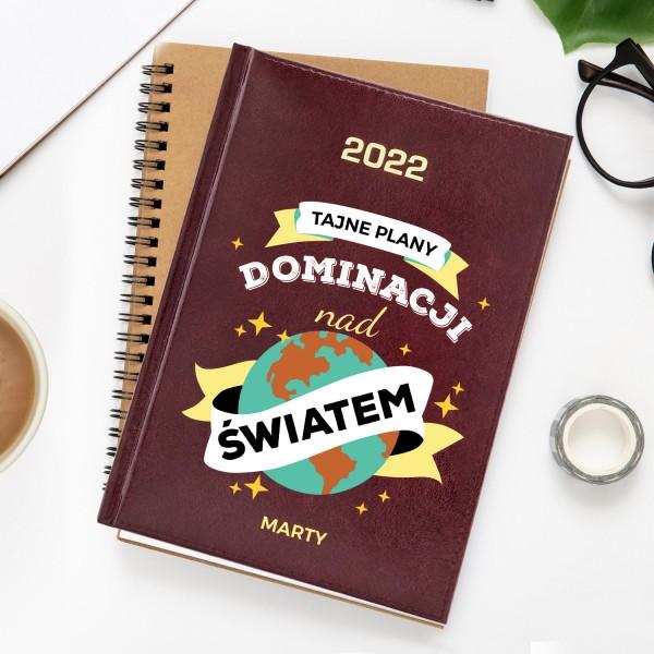 kalendarz książkowy z nadrukiem
