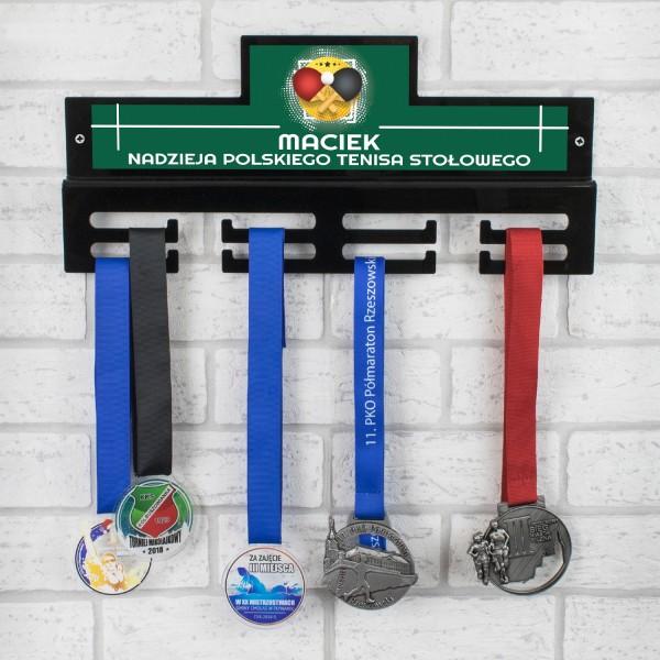 medalówka z nadrukiem na prezent dla tenisisty stołowego