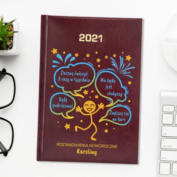 spersonalizowany kalendarz książkowy