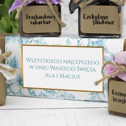 zestaw konfitur z dedykacją osłoda życia na prezent dla babci i dziadka