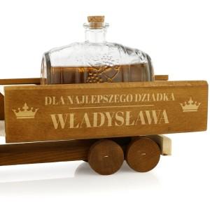 prezent na dzień dziadka karafka beczkowóz z grawerem najlepszy