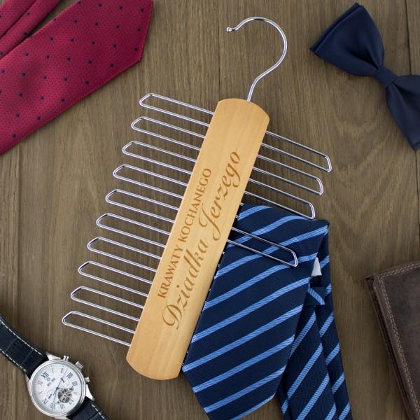 wieszak na krawaty  - ukochany dziadek na prezent dla dziadka