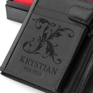 portfel z grawerem imienia na oryginalny prezent
