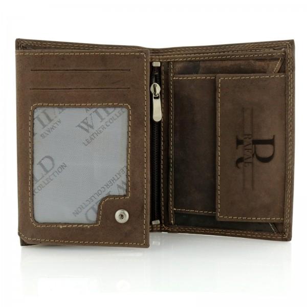 męski portfel ze skóry naturalnej z grawerem na prezent