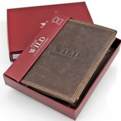 portfel Always Wild Brown ze skóry naturalnej na upominek dla niego