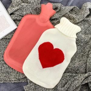 termofor gumowy w pokrowcu serce na prezent dla dziadka