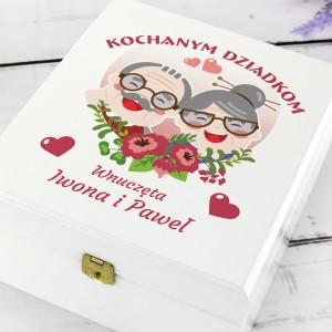 prezent na dzień babci i dziadka zestaw herbat w pudełku z nadrukiem herbatka miłości