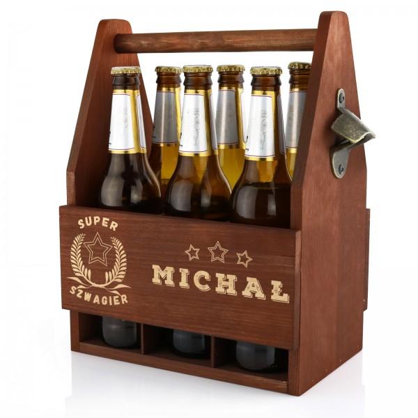 skrzynka do przenoszenia piwa z drewna super szwagier