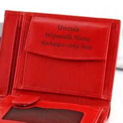 portfel skórzany z grawerem na prezent dla mamy