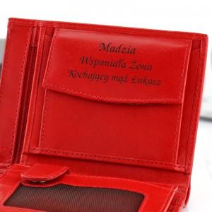 prezent dla niej portfel damski z grawerem