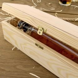 skrzynka na butelkę whisky z drewna