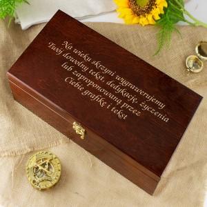 pomysł na prezent na imieniny dla niego zestaw prezentowy z grawerem król Puszczy