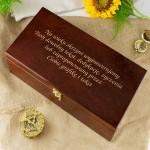 skrzynka delikatesowa z grawerem Cytrynowa Słodycz na pomysł na prezent dla kobiety