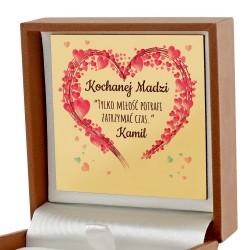 pudełko z dedykacją Tylko Miłość na upominek dla niej
