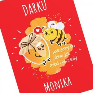 kartka na walentynki dla niego Miód i Pszczoły