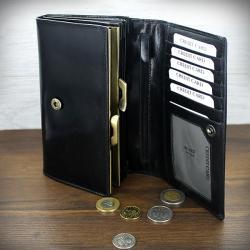 Skórzany damski portfel