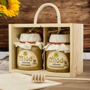 miód na prezent w skrzynce dla męża