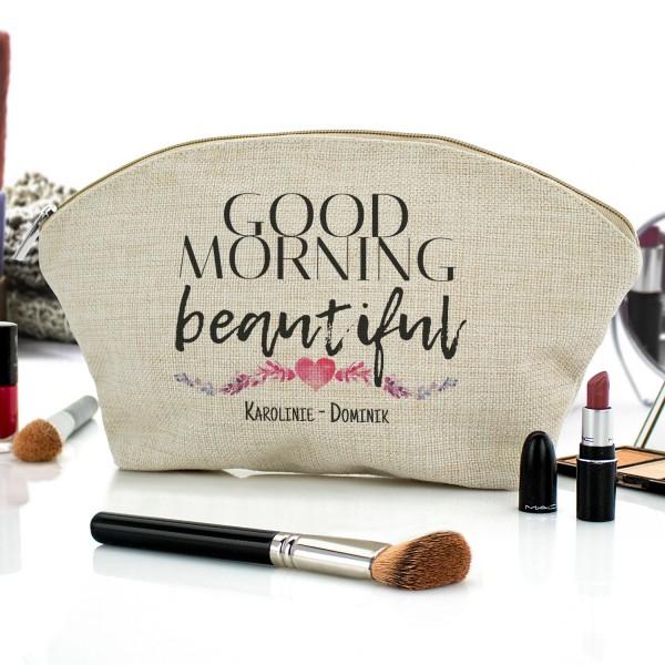kosmetyczka z nadrukiem Good Morning Beautiful na prezent dla dziewczny